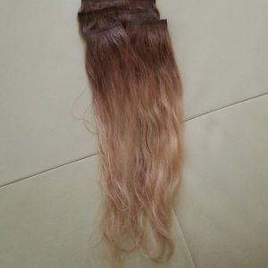 Seemless human hair extention